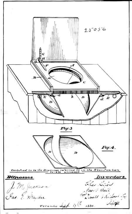 Jacob Ball privy seat patent 1886