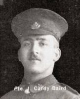 "Private James Cardy ""Cardy"" Baird"