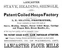 Isaac E. Shantz - Lancaster Stave, Heading Shingle & Patent Coiled Hoops Factory