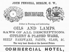 John Fennell Iron Monger, oils, saws,cutlery, plated ware, paint, glass, etc.