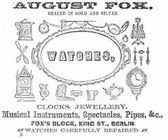 Advertisement from 1867 Directory