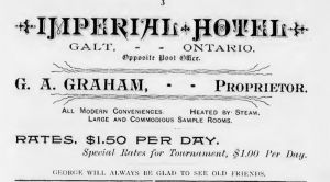 Imperial Hotel Advertisement 1890
