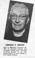 Rev. Herman F. Gruhn
