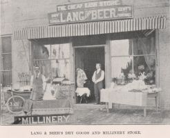 Lang & Beer's Dry Goods and Millinery Store 1901