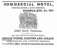 Commercial Hotel advertisement